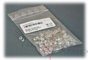 50 x LED 5mm 3.000mcd rot, TOSHIBA TLRE-180 AP #ausverkauft