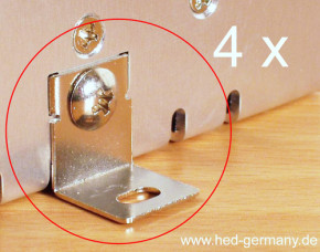 Mounting brackets 4 x incl. 4 screws, Type MHS-012