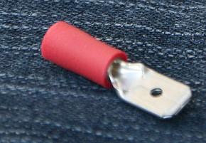 100 x Flachsteckzunge, 0,5 - 1,0mm², 6,3 x 0,8mm
