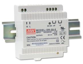 5V Hutschienen-Netzteil 3A 15W MeanWell DR-30-5
