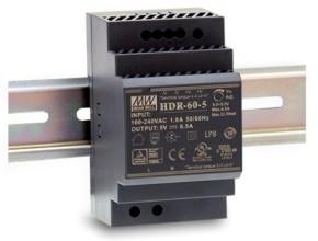 5V Hutschienen-Netzteil MeanWell HDR-60-5