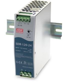24V 120W Netzteil für Hutschiene MeanWell SDR-120-24