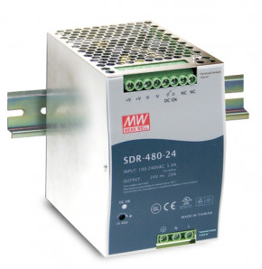 24V 480W Netzteil für Hutschiene MeanWell SDR-480-24