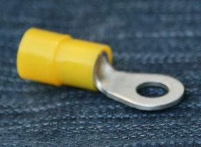 10 Stück Ringkabelschuh, isoliert, 4,0 - 6,0mm², M4
