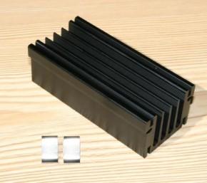 Kühlkörper SK 495 für zwei Endstufen inkl. 2  Montageklammern